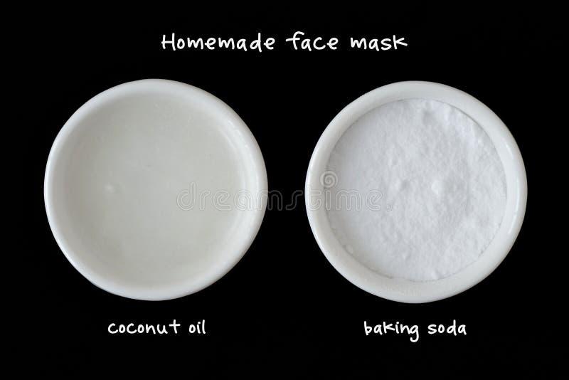 Домодельный лицевой щиток гермошлема сделанный из кокосового масла и пищевой соды стоковое изображение rf