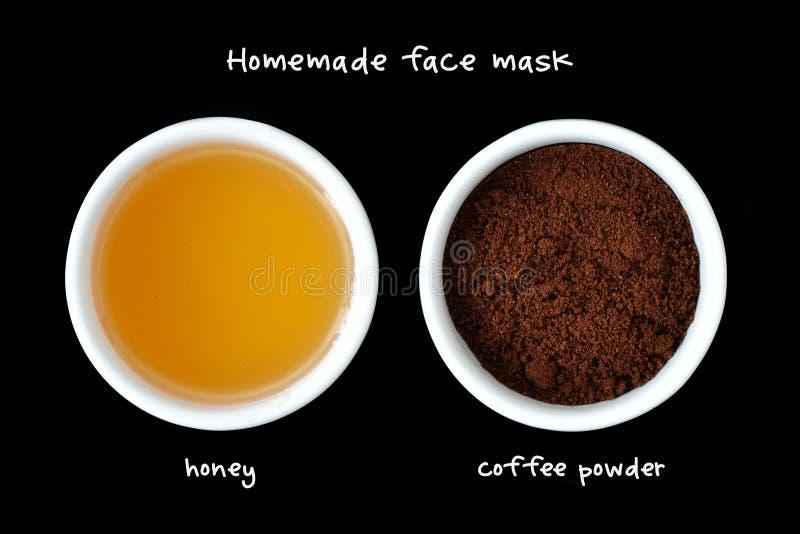 Домодельный лицевой щиток гермошлема сделанный из порошка меда и кофе стоковые изображения