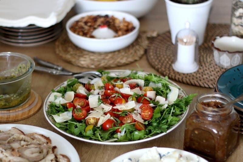 Домодельный обед стоковое изображение rf