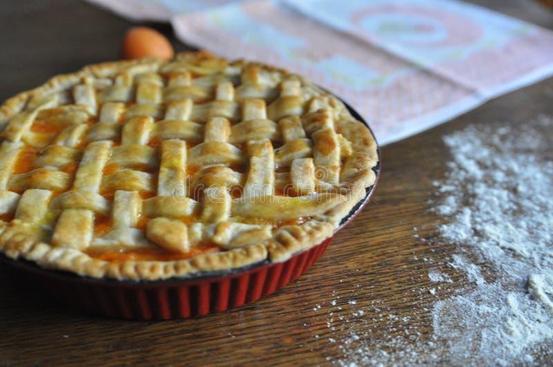 Домодельный пирог персика стоковое изображение
