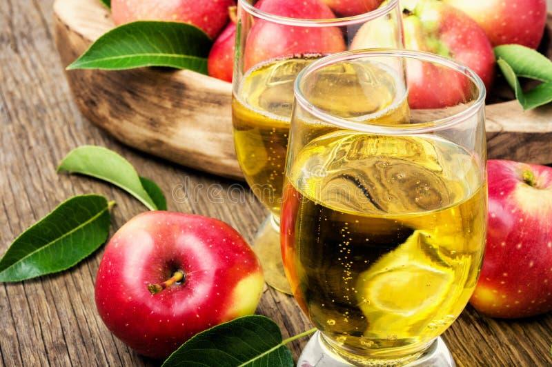 Домодельный сидр от зрелых яблок стоковое фото