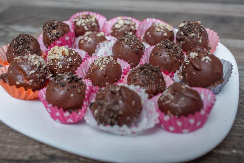 Домодельный торт-поп шоколада стоковые изображения rf