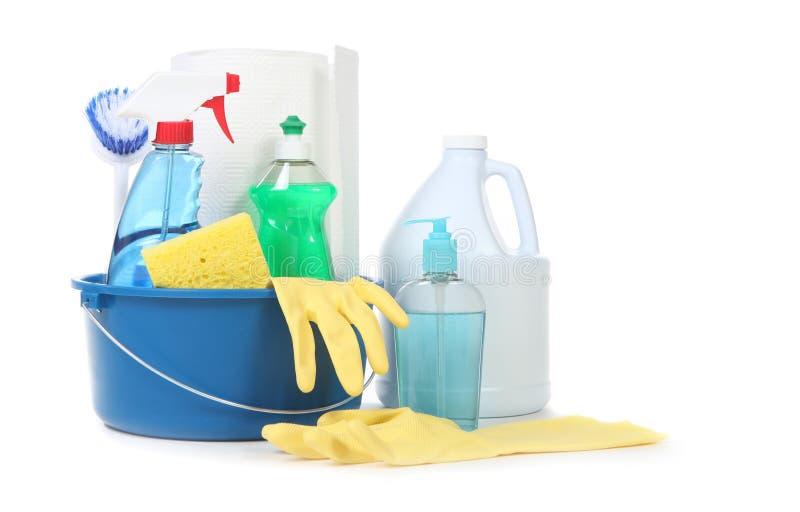 домоец чистки много продуктов полезных стоковая фотография rf