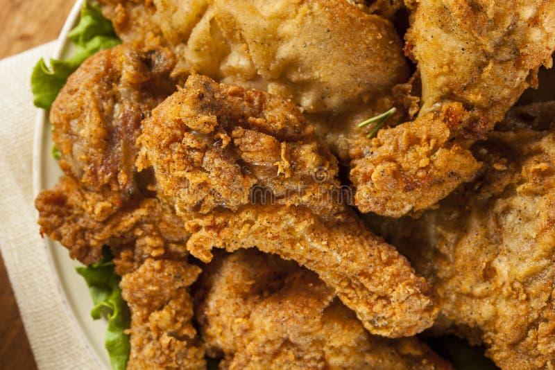 Домодельная южная жареная курица стоковые изображения rf