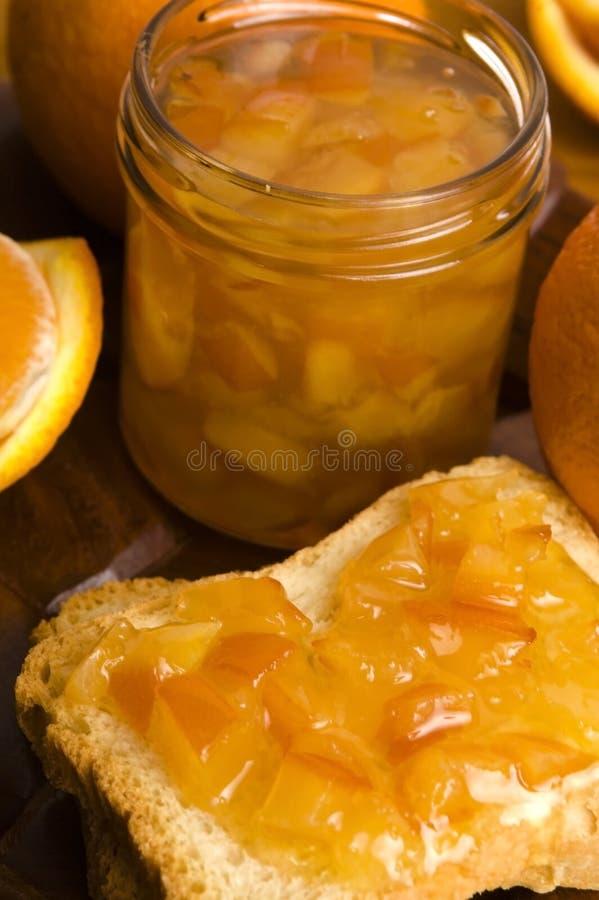 Домодельное оранжевое варенье стоковое изображение rf