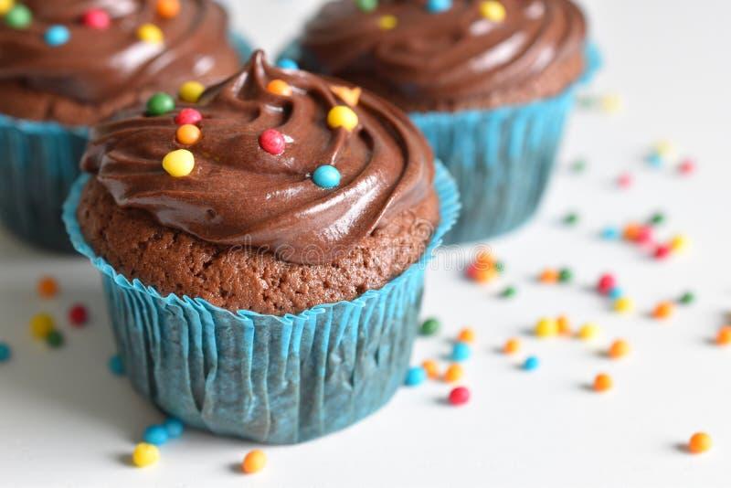 Домодельное пирожное шоколада с брызгает стоковое изображение