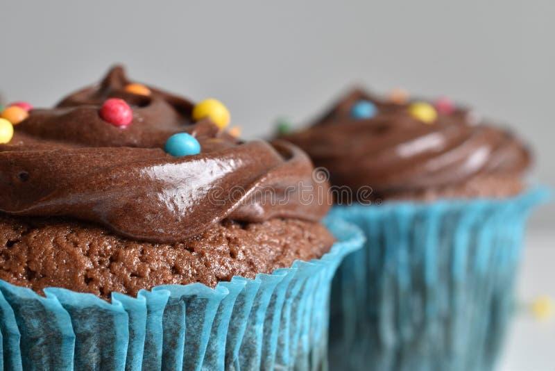 Домодельное пирожное шоколада с брызгает стоковое изображение rf