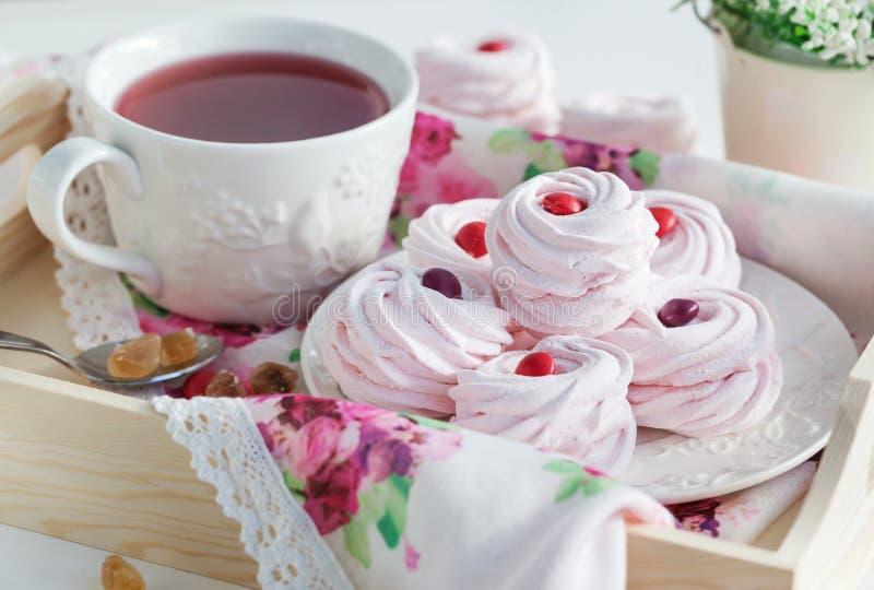 Картинка чай с зефиром