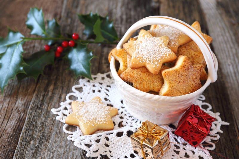 Домодельные печенья Нового Года стоковое изображение rf