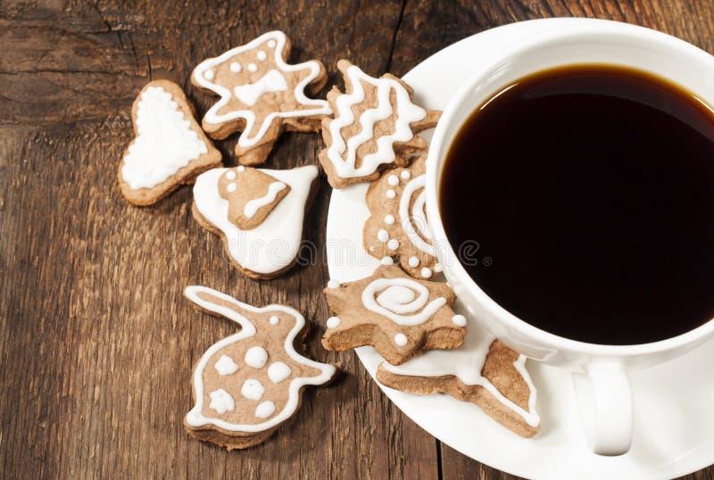 Домодельные печенья сахара с кофе стоковое фото rf