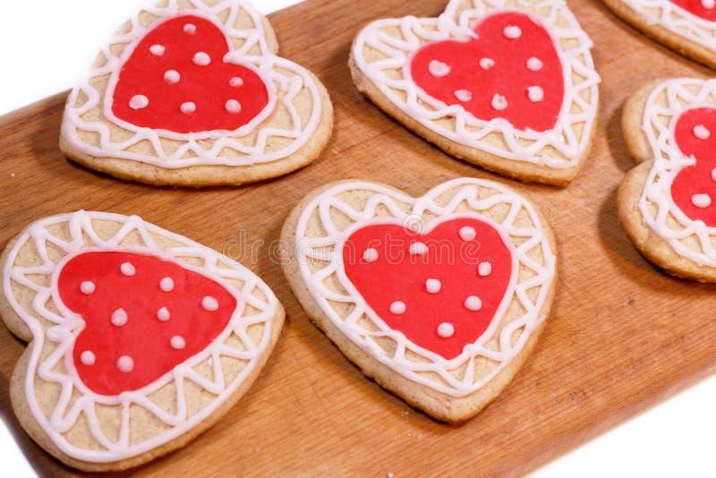 Домодельные печенья для любить стоковые фото