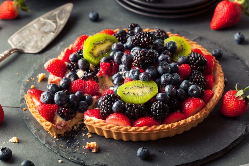 Домодельный пирог плодоовощ ключевой известки стоковое фото rf