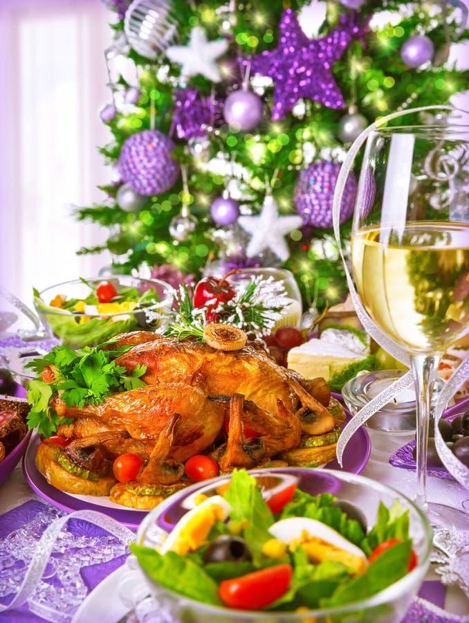 Домодельный рождественский ужин стоковое фото