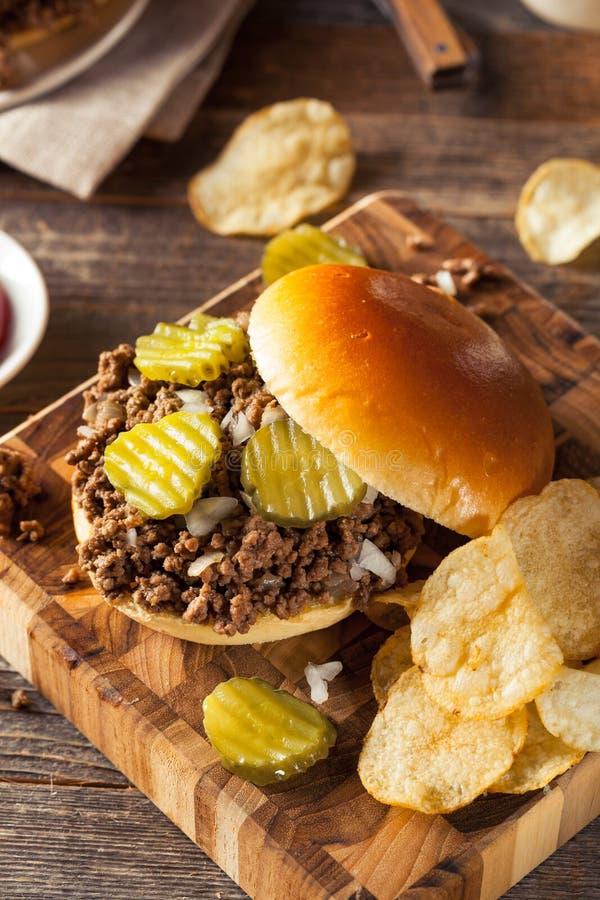 Домодельный свободный сандвич харчевни мяса стоковые изображения rf