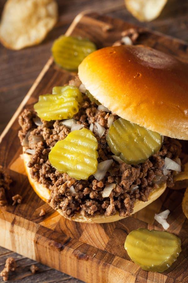 Домодельный свободный сандвич харчевни мяса стоковое фото rf