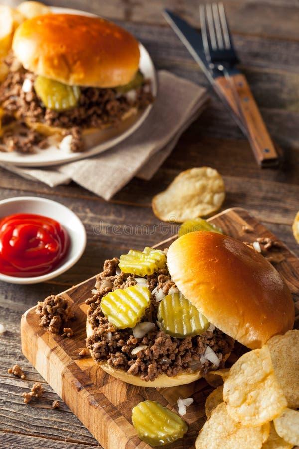 Домодельный свободный сандвич харчевни мяса стоковое изображение