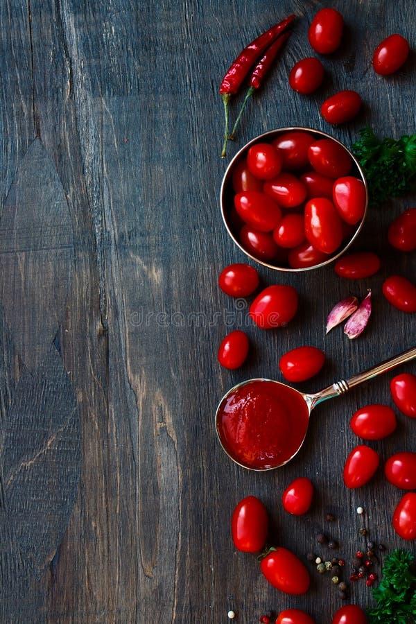 Домодельный томатный соус стоковые фото