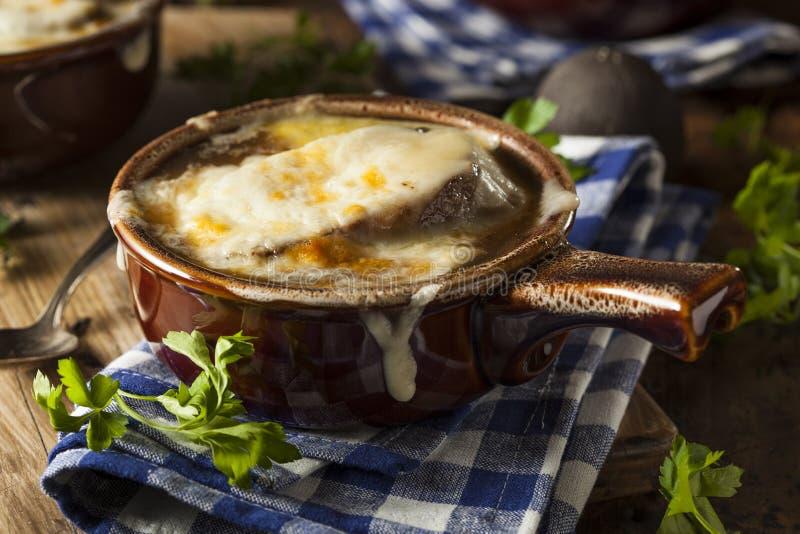 Домодельный французский суп лука стоковые фотографии rf