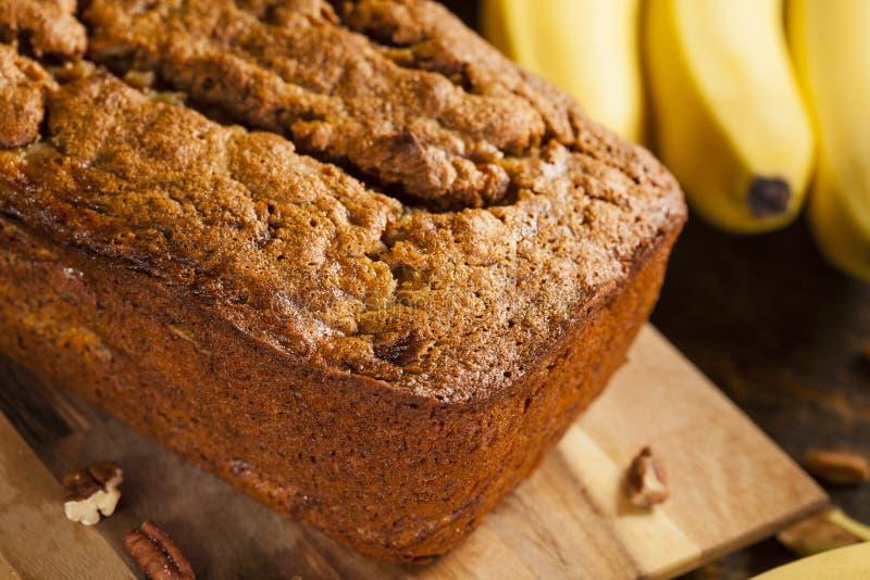 Домодельный хлеб гайки банана стоковое изображение rf