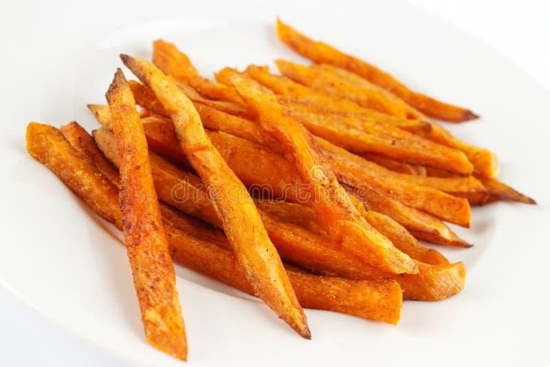 Фраи сладкого картофеля стоковые фото