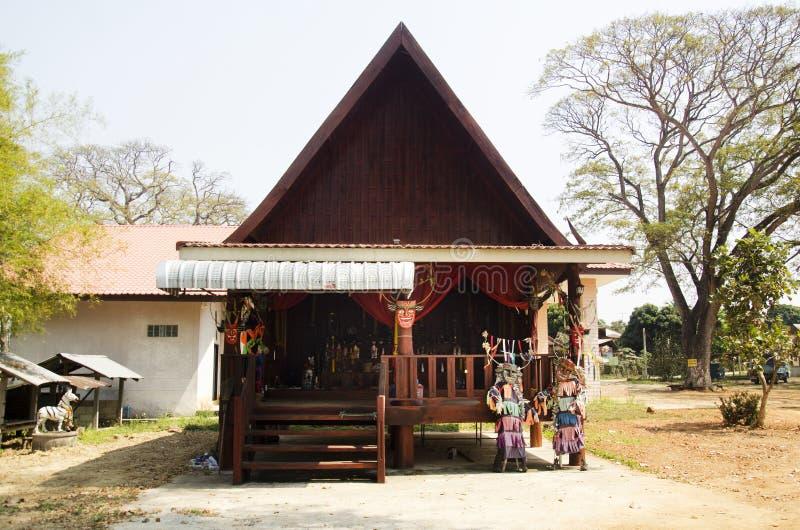 Дом Анджела или святыня Phi Kon Nam или традиции воды экипажа призрака стоковое изображение rf
