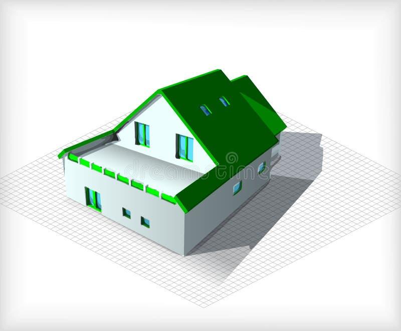 Дом архитектуры модельный na górze светокопий бесплатная иллюстрация