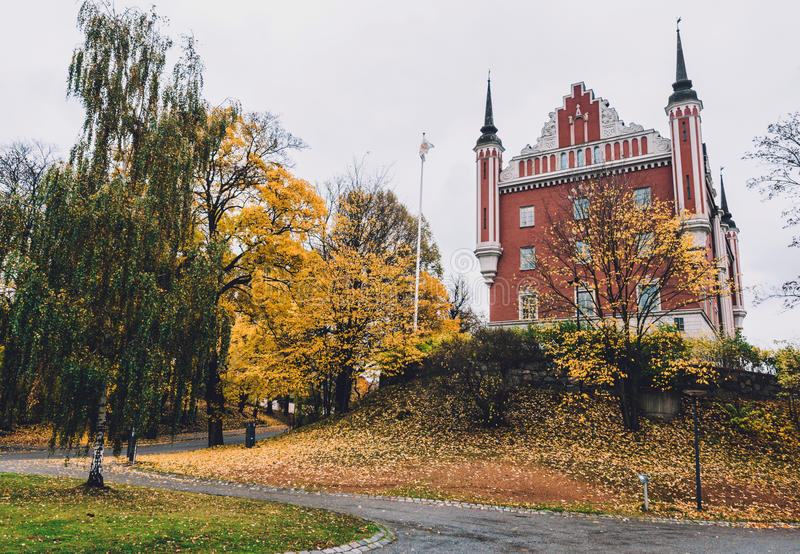 Дом Адмиралитейства в осени Стокгольме стоковое фото rf