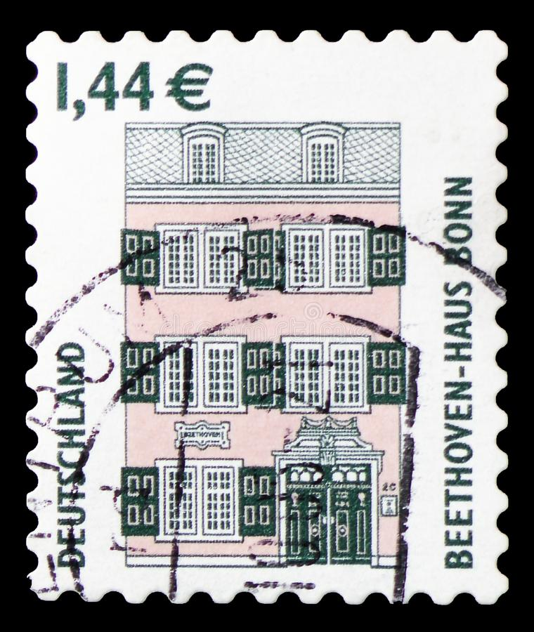 Дом Бетховен, Бонн, serie видимостей, около 2003 стоковое фото rf