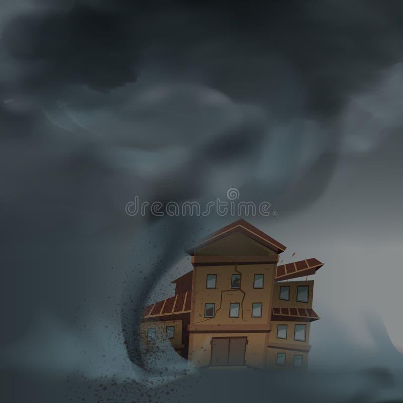 Дом брошенный вниз с состава бесплатная иллюстрация