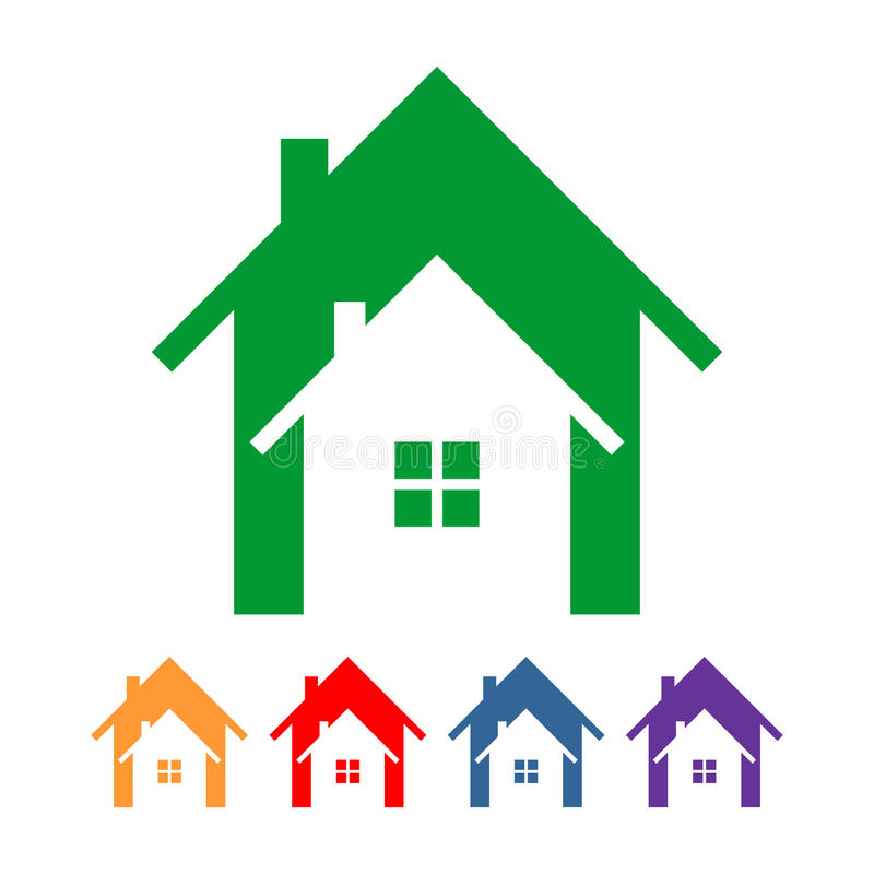 Дом внутри шаблона логотипа дома стоковая фотография rf