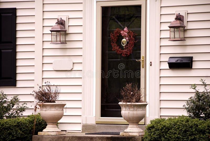 дом входа передний стоковые фотографии rf