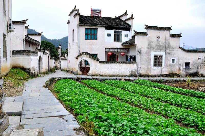Дом в деревне Xidi стоковые изображения rf
