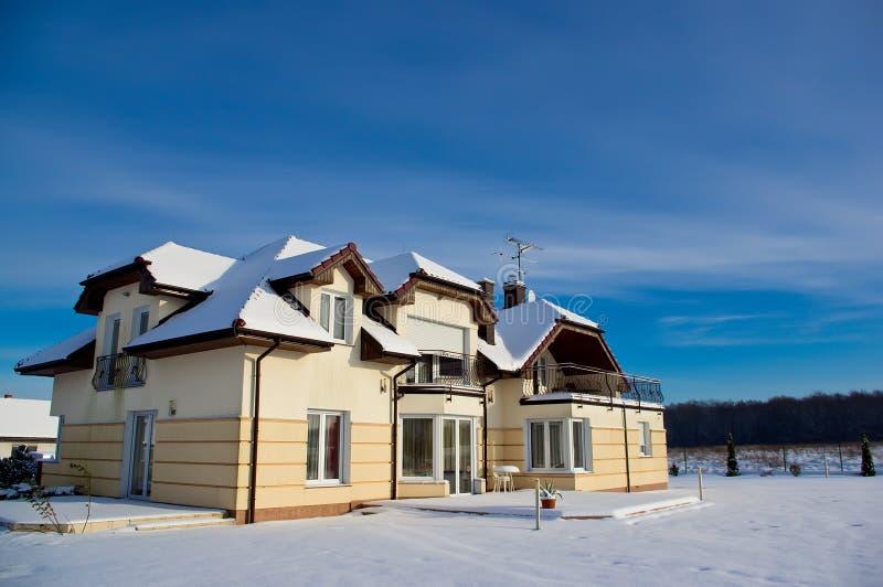 Дом в зиме Стоковое Изображение