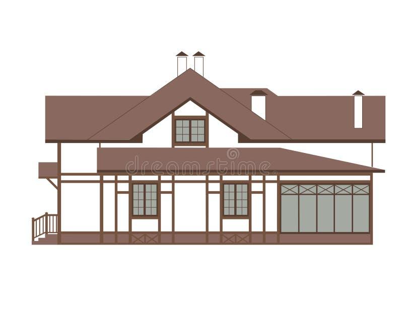 Дом в немецком стиле Fachwerk бесплатная иллюстрация