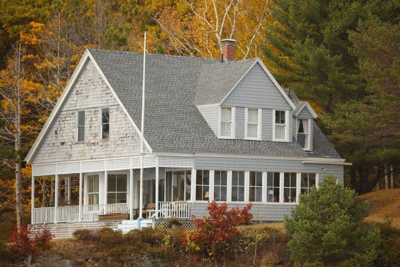 Дом в древесинах стоковые фото