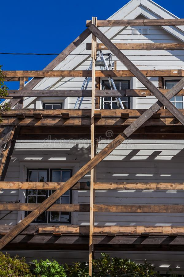 Дом в реновации стоковые фотографии rf