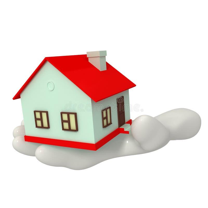 Дом в руке стоковая фотография rf