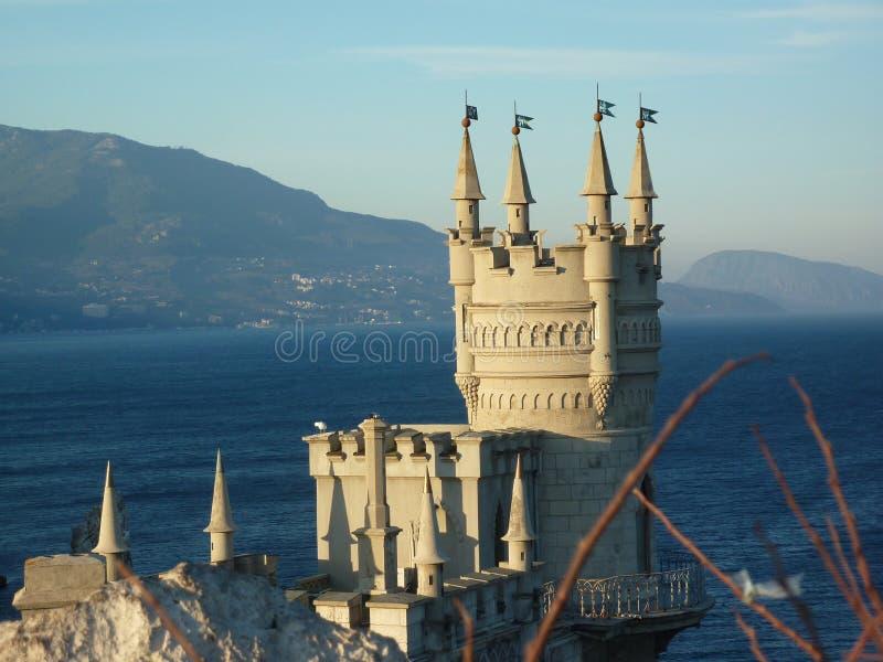 Дом в стиле замка гнездо Крым ` s ласточки стоковое фото