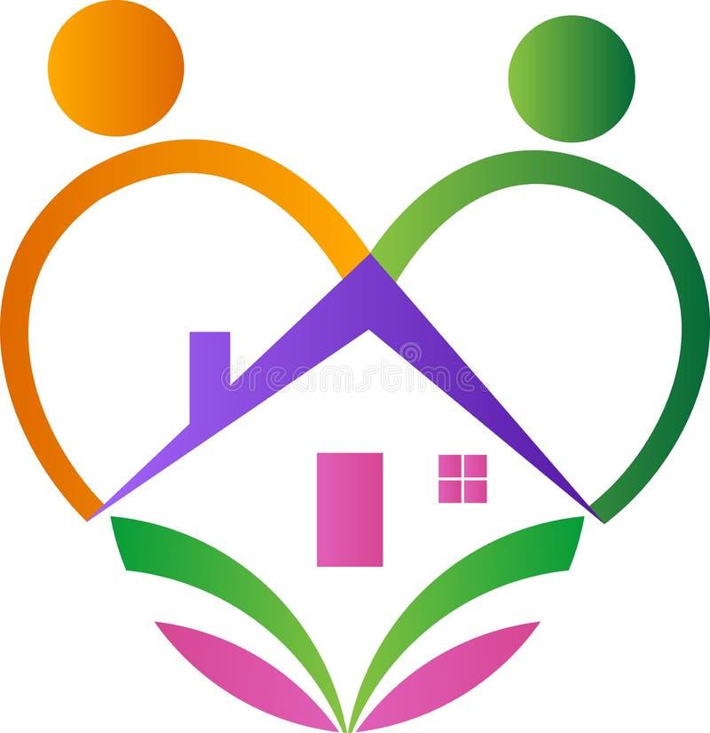 Дом влюбленности иллюстрация вектора