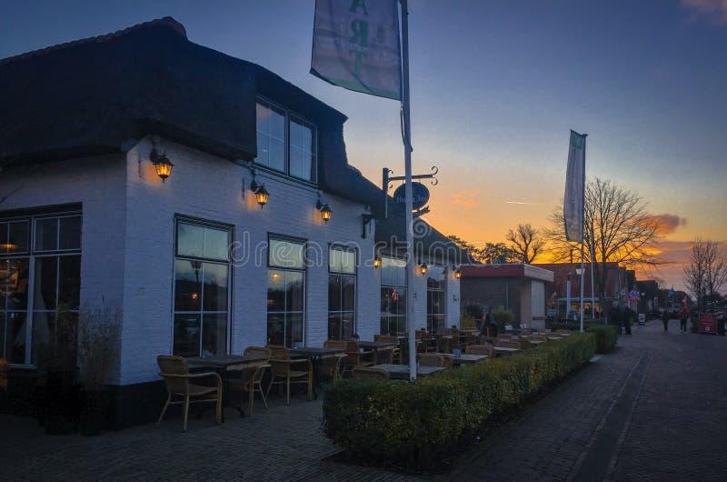 Дом в Giethoorn   Голландии, Нидерландах стоковые фотографии rf