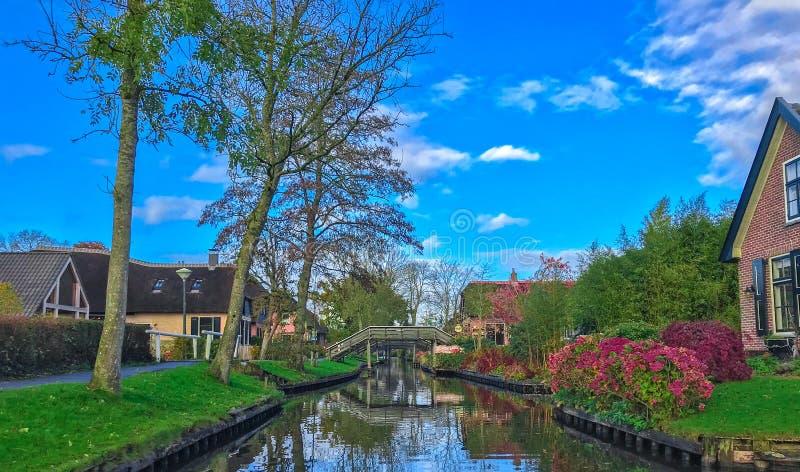 Дом в Giethoorn   Голландии, Нидерландах стоковое фото rf