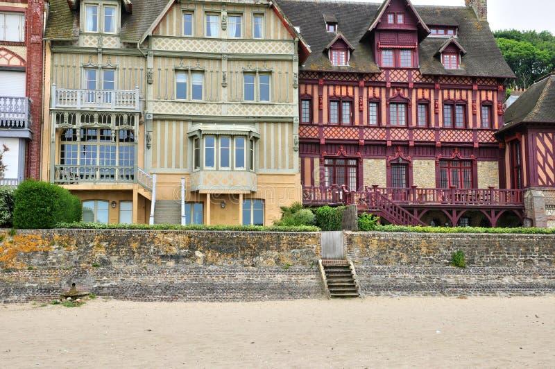 Дом в sur Mer Trouville в Normandie стоковое изображение