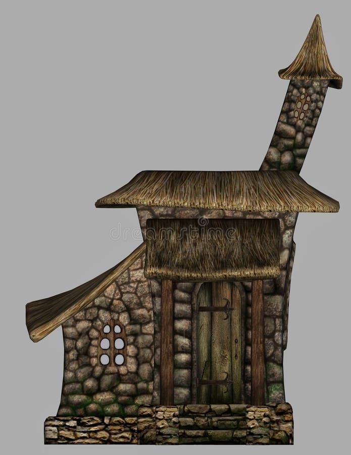Дом гнома фантазии бесплатная иллюстрация
