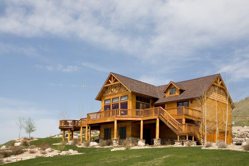 дом горного склона стоковое изображение rf