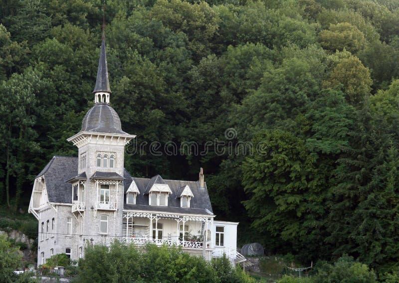 дом горного склона стоковые фотографии rf