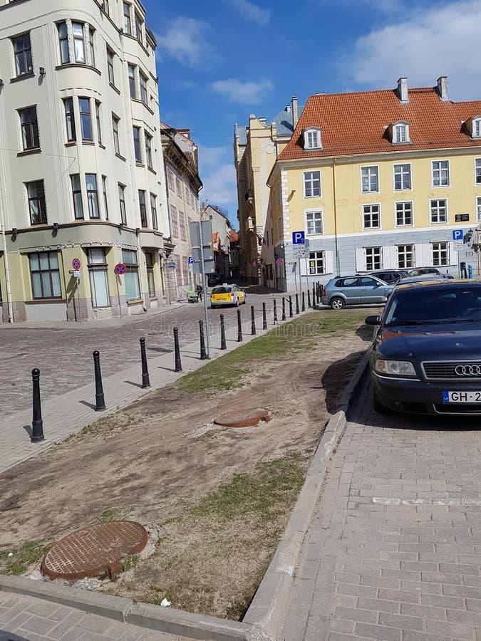 Дом города улицы lativa Риги стоковые изображения rf