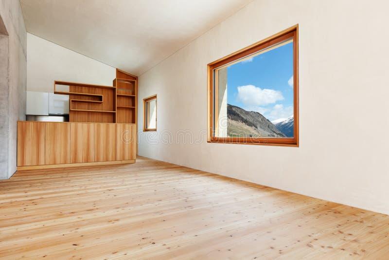 Дом горы, комната стоковое изображение rf