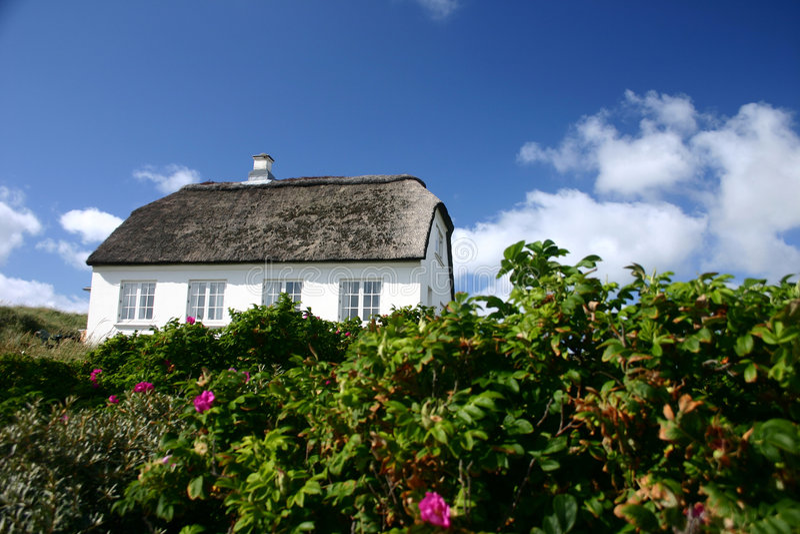 дом Дании стоковое фото