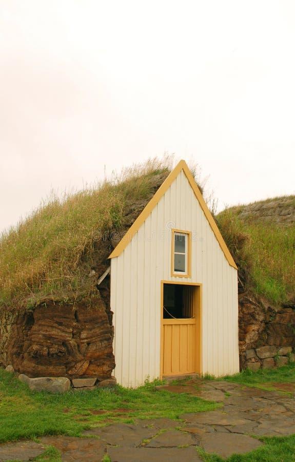 Дом дерна в Исландии стоковая фотография