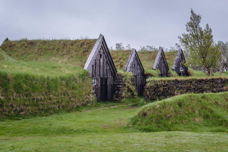 Дом дерновины Keldur в Исландии стоковые изображения